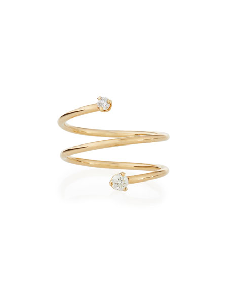 Zoe Chicco 14k Prong Diamond Wrap Ring