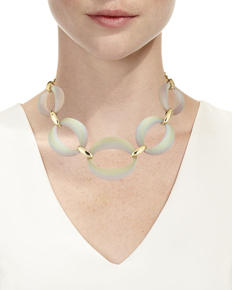 Large Lucite® Link Necklace, 16""