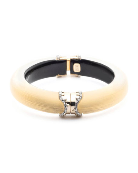 Pave Edge Hinge Bracelet