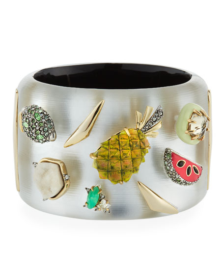 Alexis Bittar Fruit Studded Lucite?? Hinge Bracelet