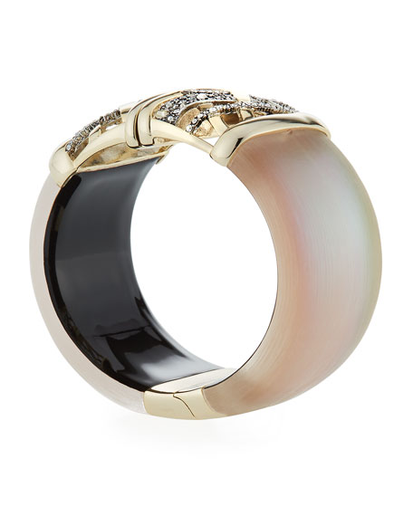 Crystal Encrusted Plaid Hinge Bracelet