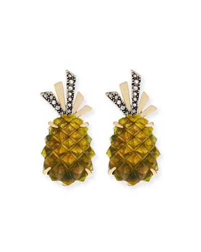 Pineapple Lucite® Clip-On Earrings