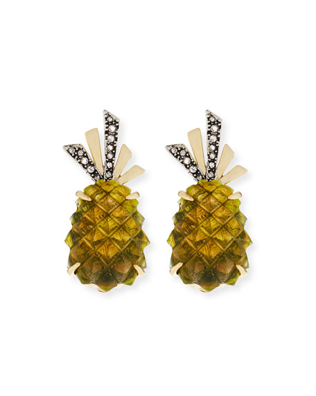 Pineapple Lucite® Clip-On Earrings