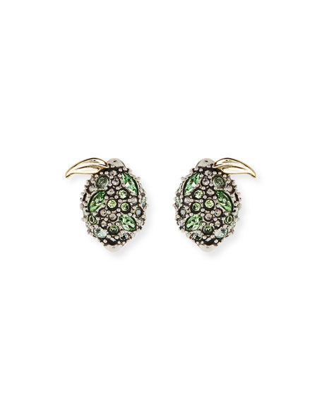 Alexis Bittar Crystal Encrusted Lime Post Earrings