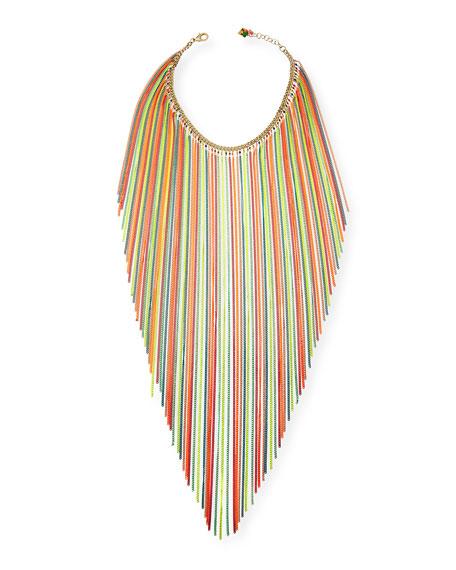 Medusa Long Neon Fringe Necklace
