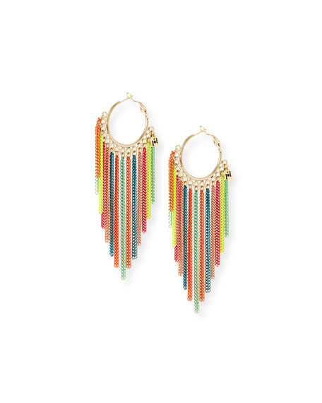 Rosantica Millefili Neon Chain Hoop Earrings enWpix0ik