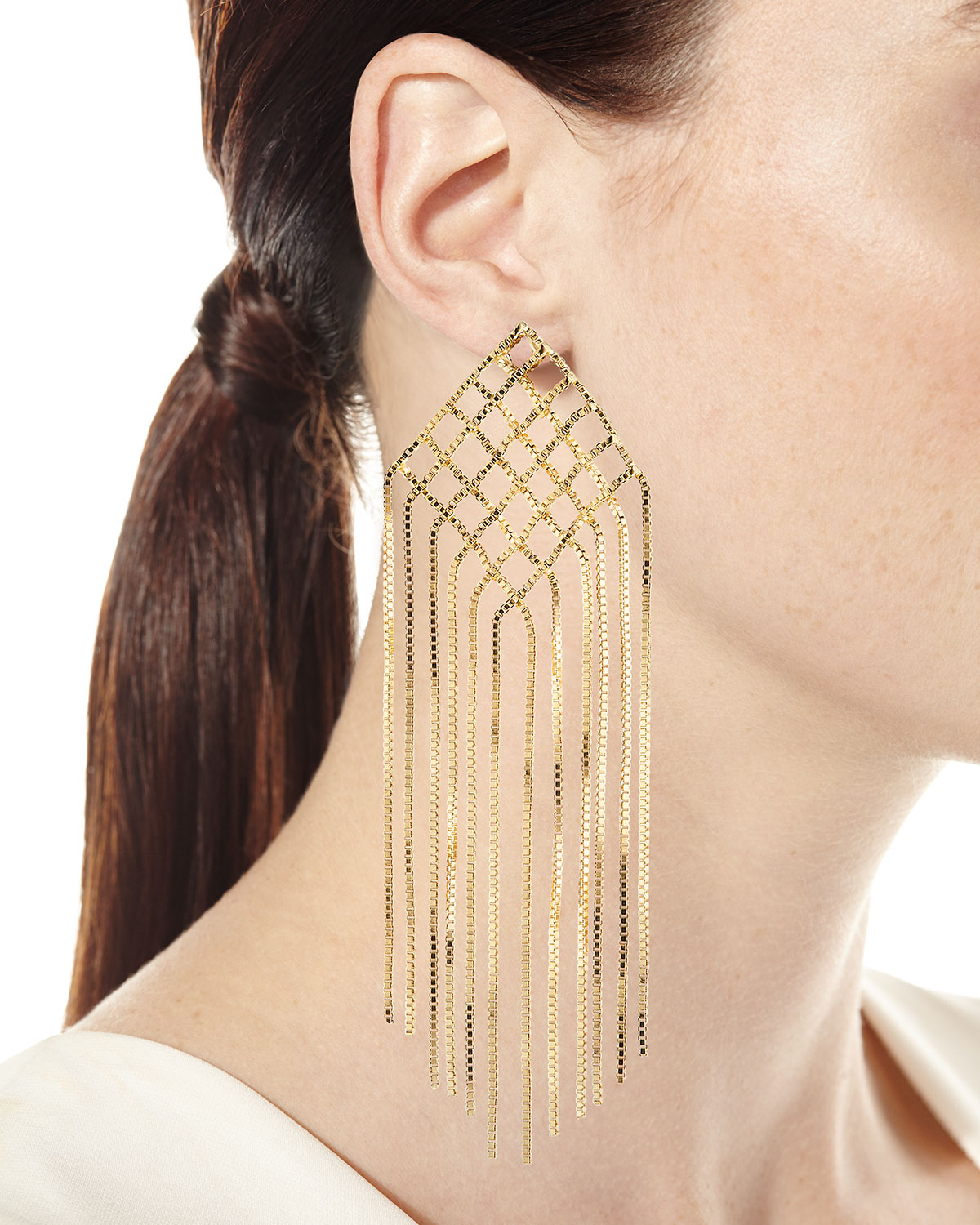 Rosantica Aquilone Kite Fringe Chain Earrings