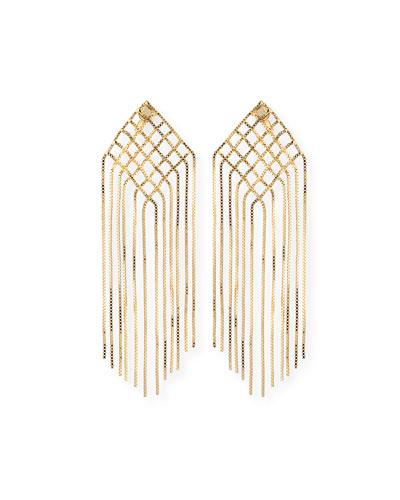 Aquilone Kite Fringe Chain Earrings