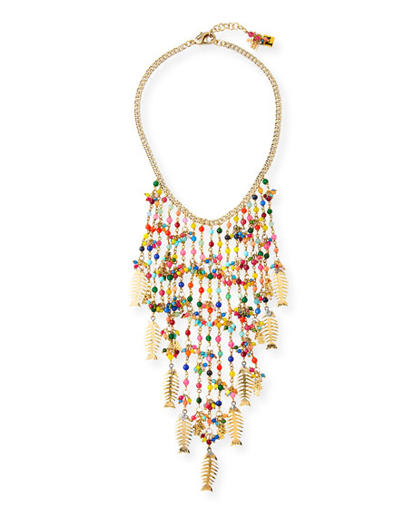 Arsella Rainbow Fish Statement Necklace