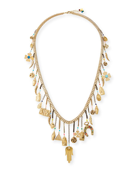 Rosantica Malocchio Long Mixed Charm Necklace