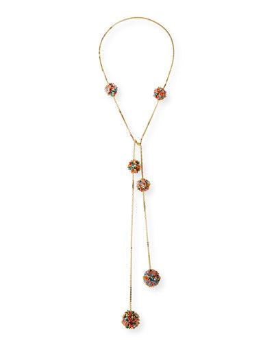 Suono Multicolor Quartz Pompom Necklace