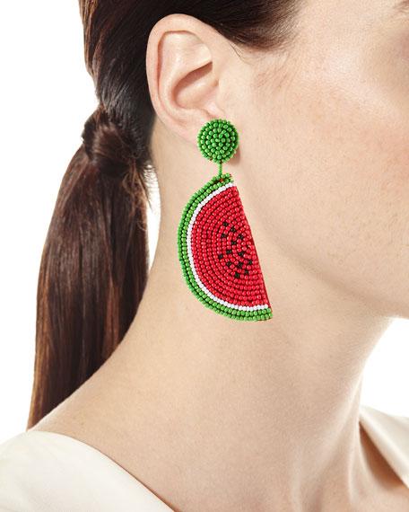 Watermelon Seed Bead Earrings