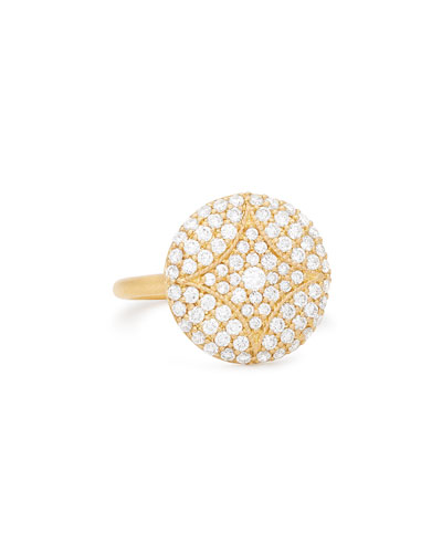 18k Large Pavé Aladdin Disc Ring