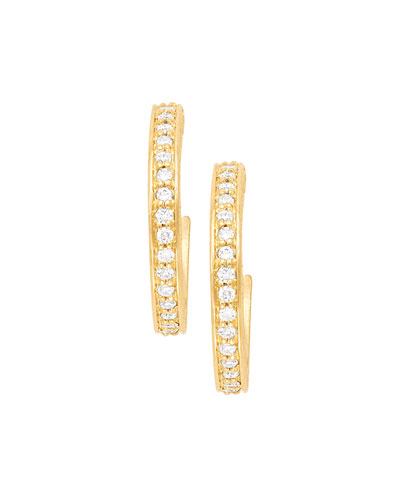 18k Petite Pavé Hoop Earrings