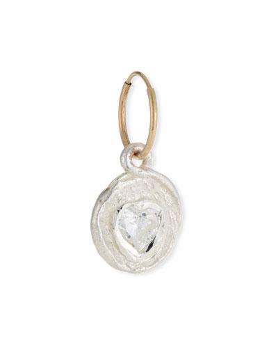Single Heart-Cut Cubic Zirconia Earring