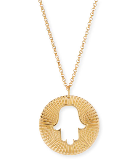 hamsa pendant gold diamond necklace