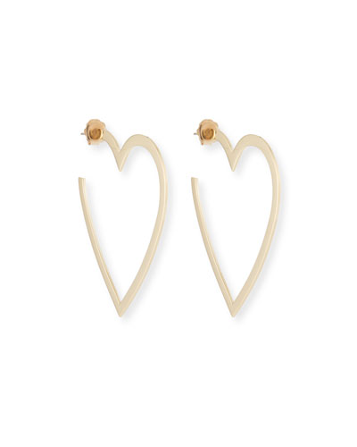 Larissa Medium Heart Hoop Earrings