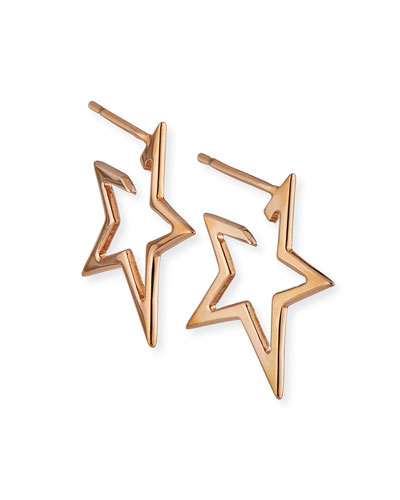 Sade Small Star Hoop Earrings