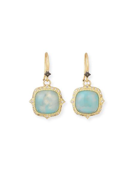 Armenta Old World 18k Aquaprase?? Drop Earrings