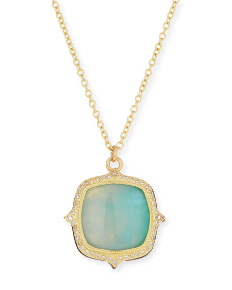 Armenta Old World 18k Aquaprase Pendant Necklace