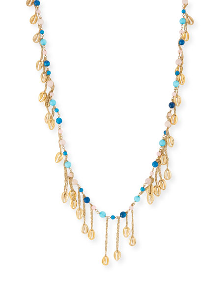 Antilla Puka Shell Long Dangle Necklace