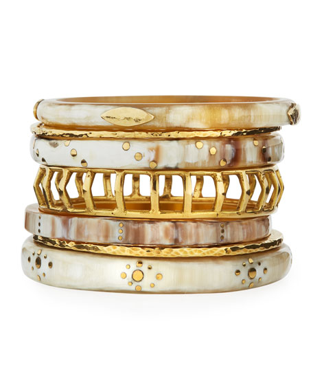 Ashley Pittman Almasi Light Horn Stacking Bangles, Set