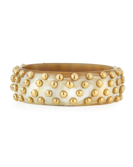 Mahiri Studded Light Horn Bangle