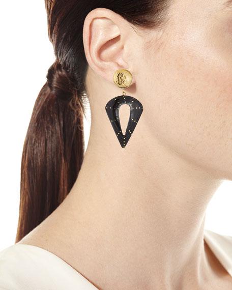 Kuu Dark Horn Drop Earrings