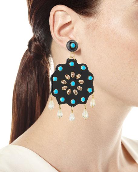 Shauku Flower Drop Earrings