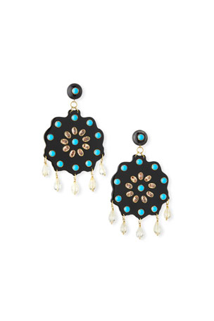 Ashley Pittman Shauku Flower Drop Earrings