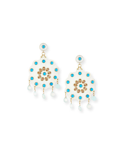 Shauku Light Horn Flower Earrings
