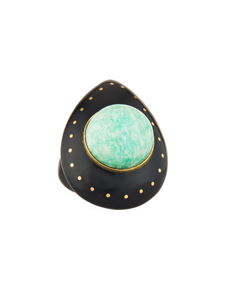 Ashley Pittman Mageuzi Teardrop Dark Horn & Turquoise