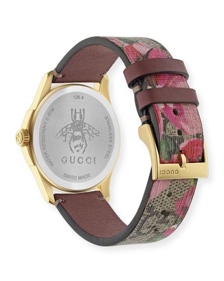 38mm G-Timeless Watch w/ GG Supreme Canvas Strap