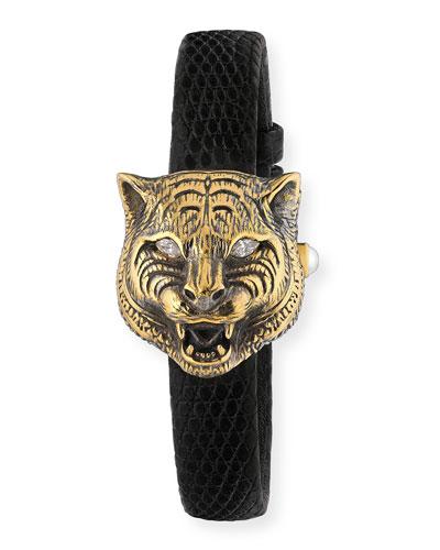 32mm 18k Le Marché Des Merveilles Secret Feline Watch