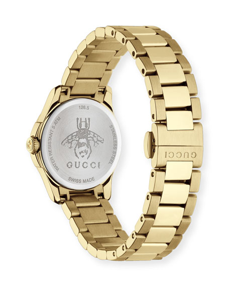 27mm G Timeless Icon Indices Watch W/ Bracelet Strap by Gucci