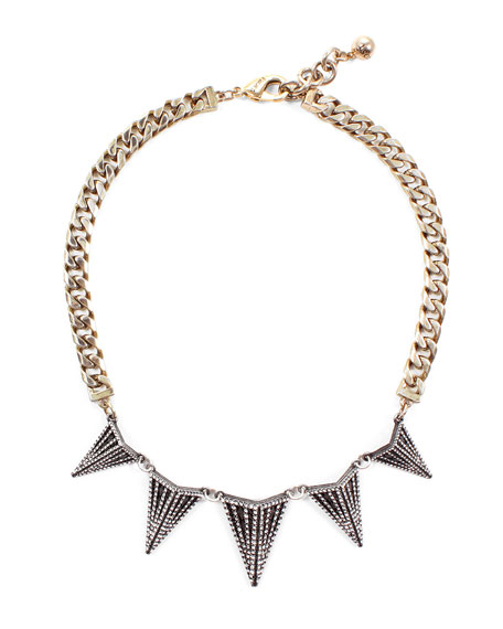 Lulu Frost Nell Crystal Spike Necklace hbFz2ie