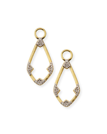 Jude Frances 18k Lisse Open Diamond Kite Earring