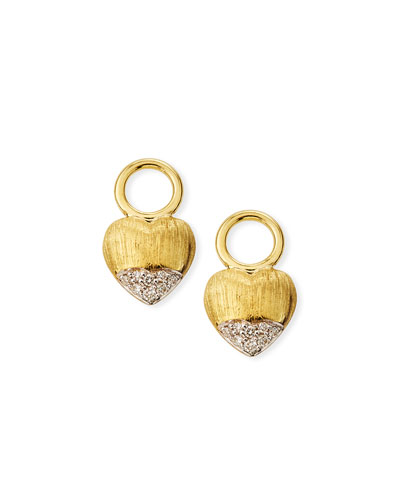 Lisse 18k Puffy Heart Diamond Earring Charms