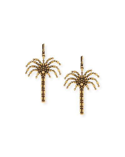 Palm Tree Drop Earrings