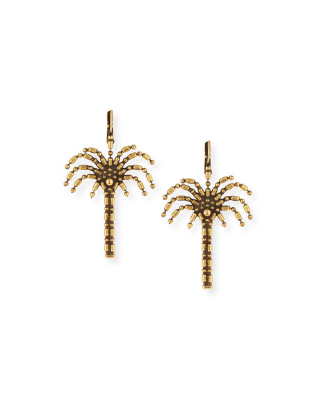 AUDEN PALM TREE DROP EARRINGS