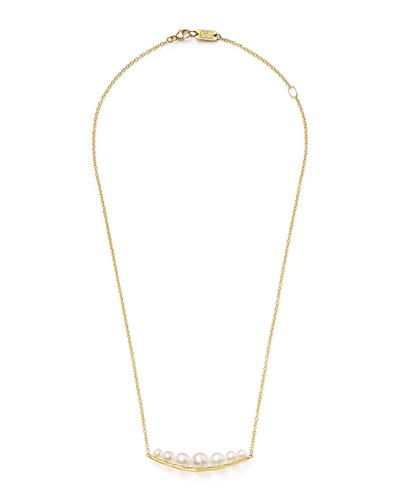 18k Nova Smile-Bar Pendant Necklace