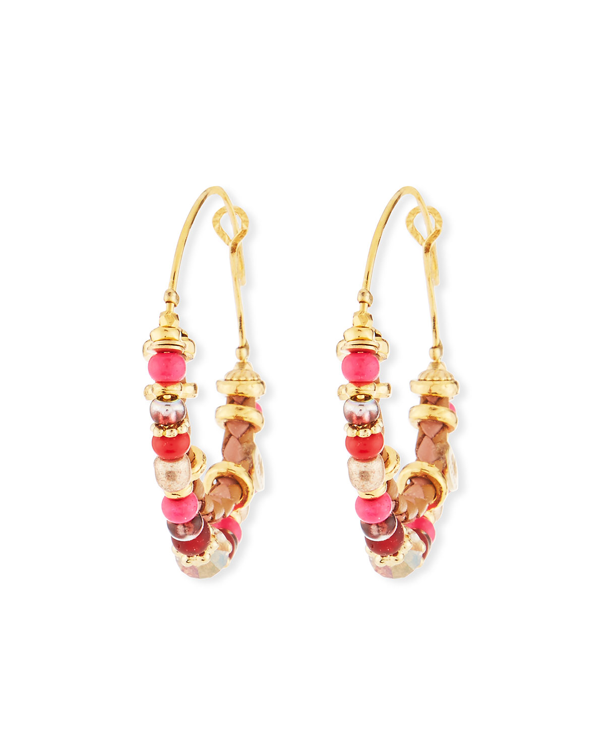 Comedia Beaded Hoop Earrings