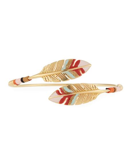 Gas Bijoux Penna Bypass Feather Enamel Bracelet