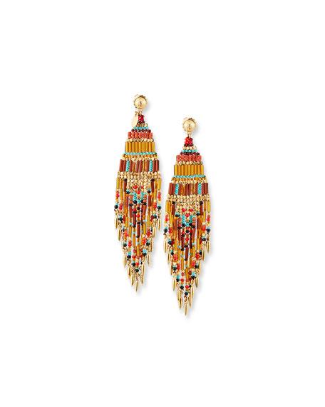 Aulla Beaded Dangle Earrings