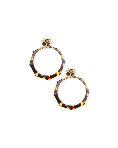 Octavia Acetate Hoop Earrings