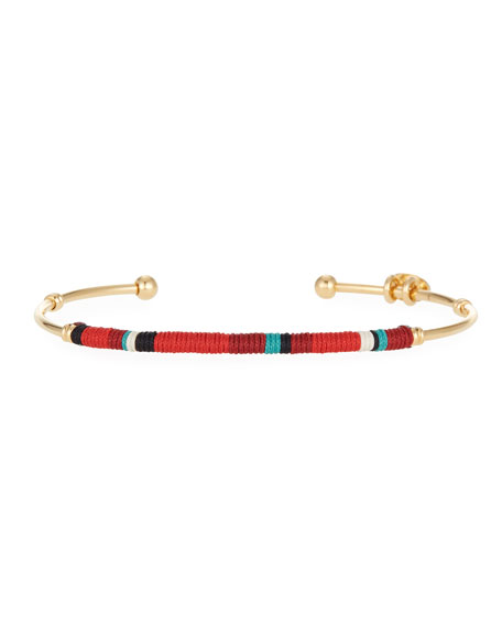 Zanzibar Bangle Bracelet, Red/Gold