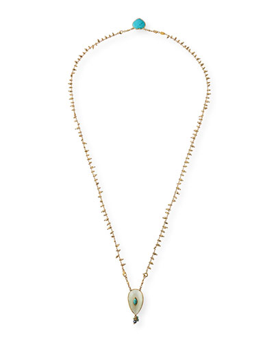 Scapulaire Semiprecious Pendant Necklace