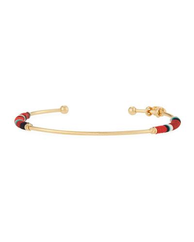 Zanzibar Bangle Bracelet, Red