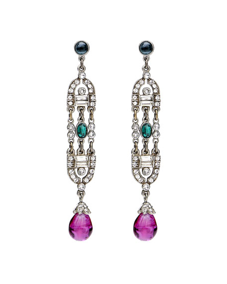 Velvet Glamour Deco Drop Earrings