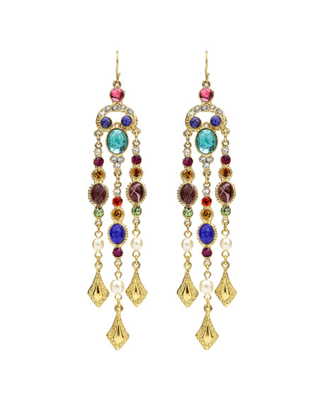 Ben-Amun Multicolor Dangle Drop Earrings HrQN2inJ3B